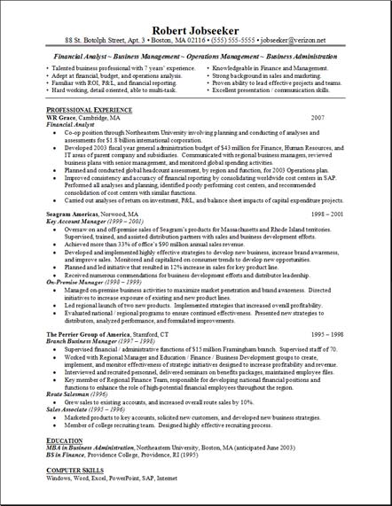 financial analyst resume example financial analyst resume free